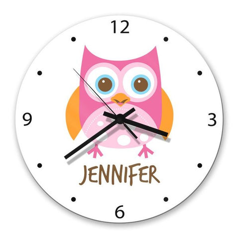 Owl Glass Clock