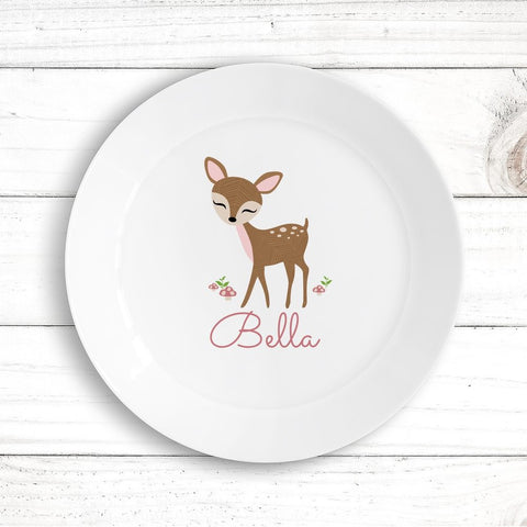 Cute Deer Kids Plate