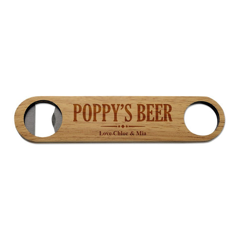 Poppy's Wooden Bottle Opener