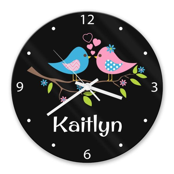 Two Birds Glass Clock (Temporarily Out of Stock)