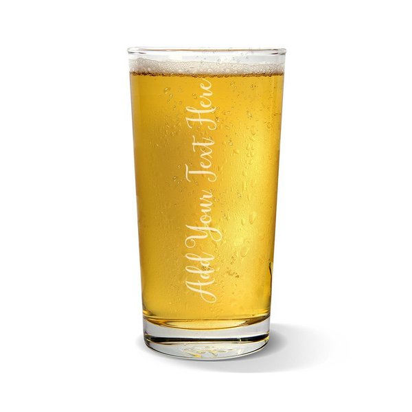 Add Your Own Message Vertical Pint Glass