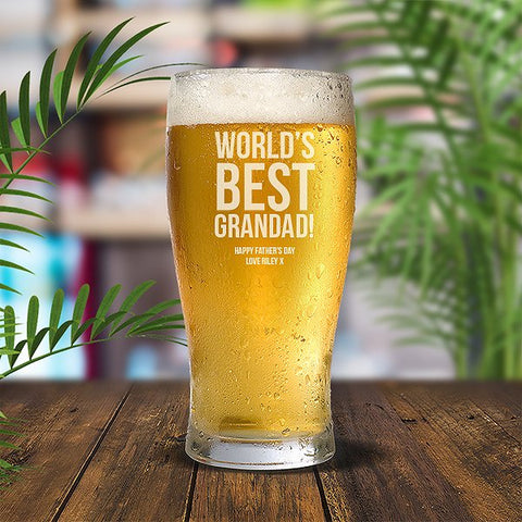 Best Grandad Standard 285ml Beer Glass