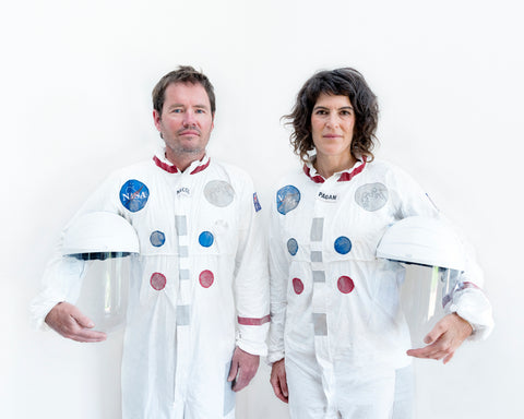 Photo: 2019 Gugenby Mission. Official portrait of Gudgenauts Jack and Jill. Photo: Lee Grant