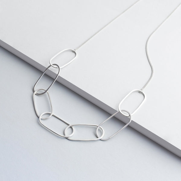 Open Chain Necklace ( sterling silver )