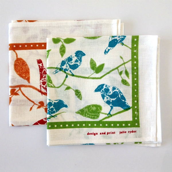 Finch Birds Tea Towel