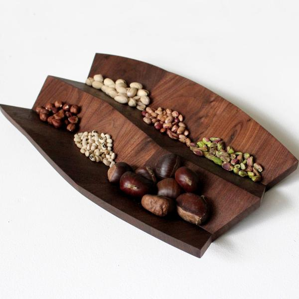 Wave Serving Dish, Walnut