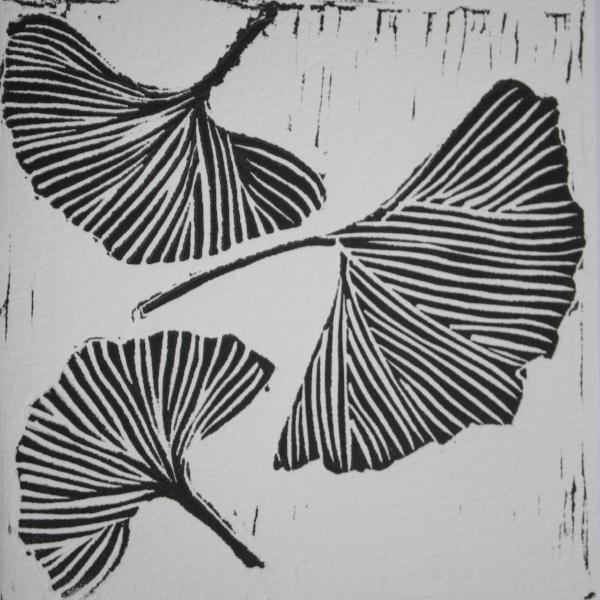 Gingko 2 (Black Ink on White Paper)