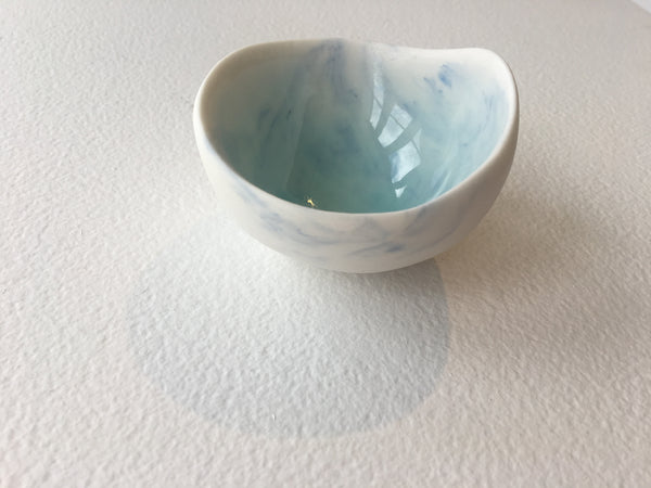Small porcelain bowl with copper glaze