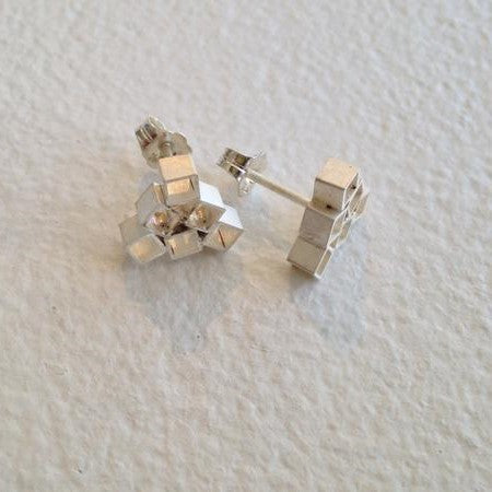 Stud earrings - Building blocks series