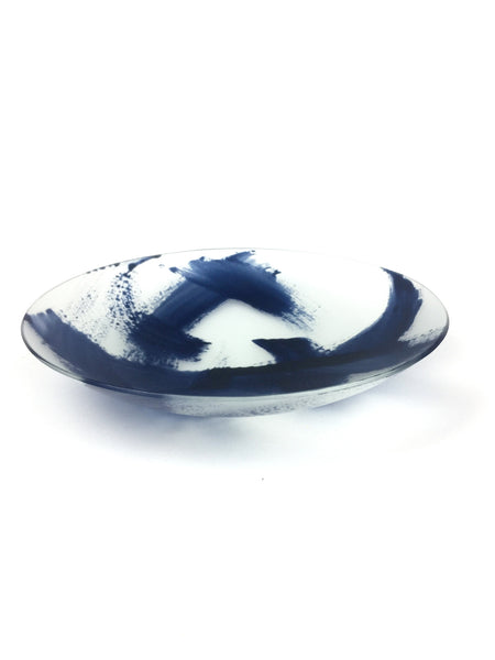 Kilnformed and enamelled glass bowl - Medium