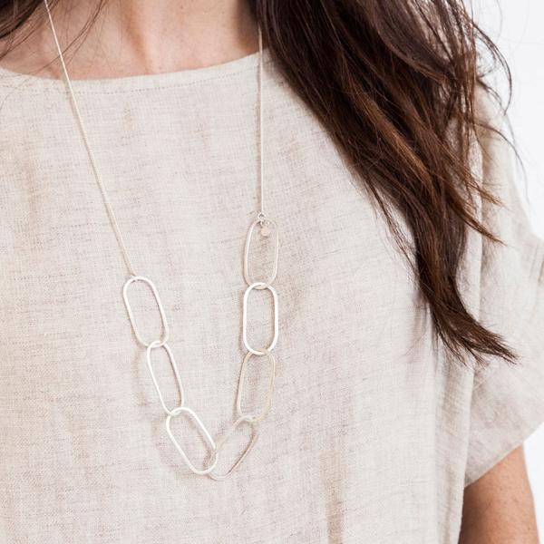 Open Chain Necklace - Sterling Silver