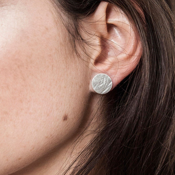 Textured Studs Large (sterling silver)