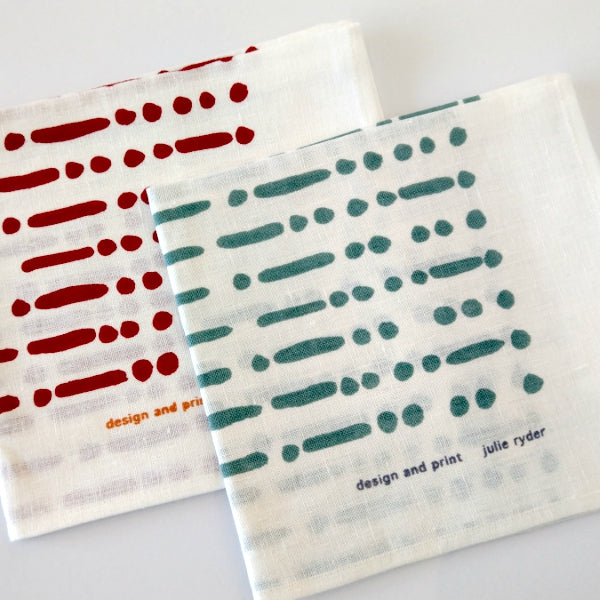 Morse Dots & Lines Tea Towel