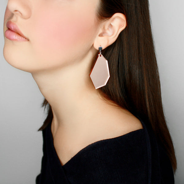 Mirrored Polygon earrings