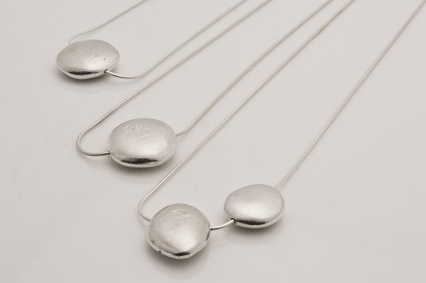 Two Pebble Necklace