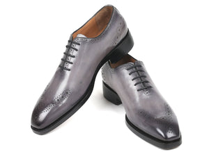 Paul Parkman Gray Goodyear Welted Punched Oxfords