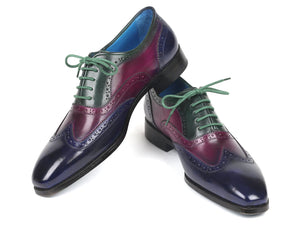Paul Parkman Men's Multi Color Wingtip Oxfords