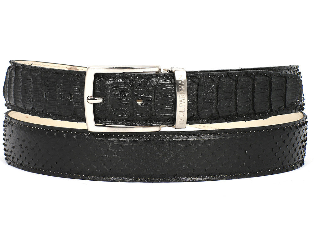 Paul Parkman Black Genuine Python - TieThis Neckwear and Accessories and TieThis.com