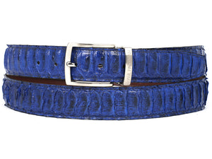 Blue Genuine Python (snakeskin) - TieThis® Neckwear and Accessories