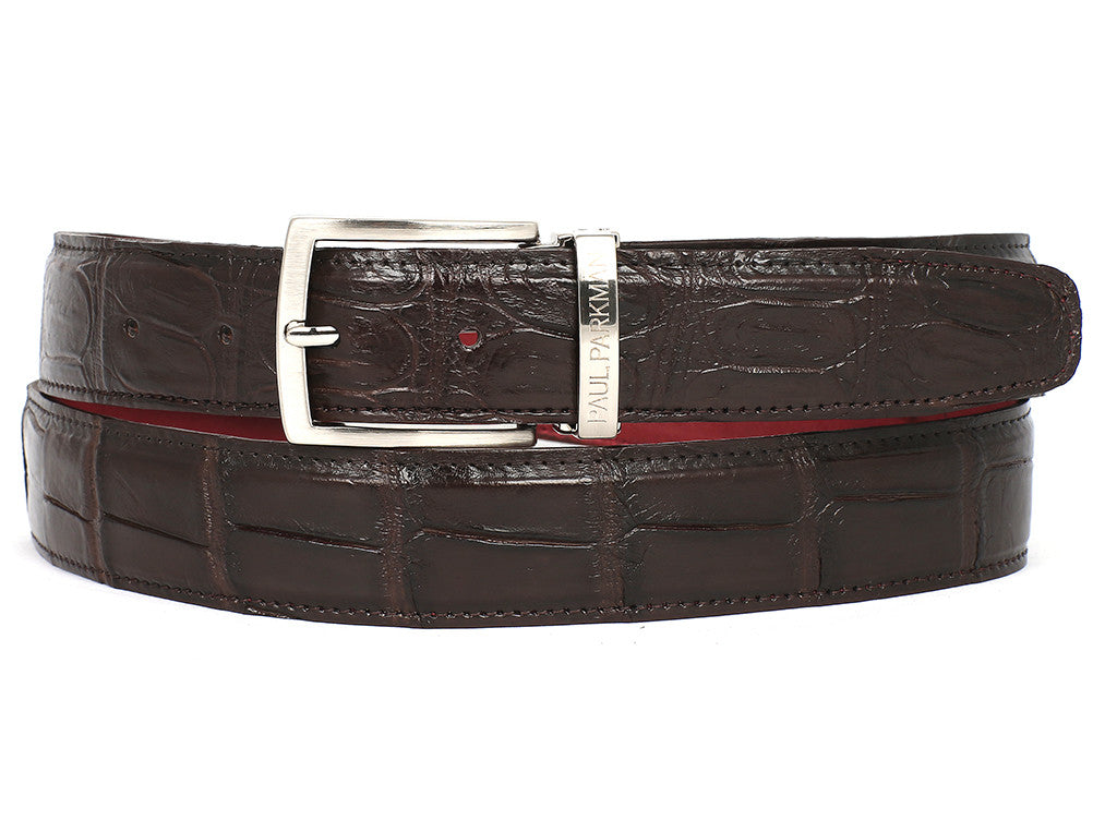 Paul Parkman Brown Genuine Crocodile - TieThis Neckwear and Accessories and TieThis.com