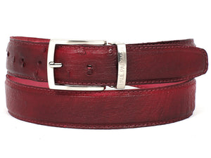 Burgundy Red Genuine Ostrich - TieThis® Neckwear and Accessories