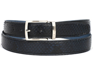 Navy Blue Genuine Python - TieThis® Neckwear and Accessories