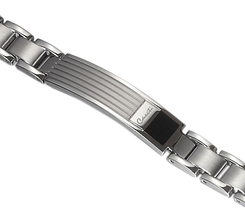 Clayworth Stainless Steel Black and Gray Bracelet - TieThis Neckwear and Accessories and TieThis.com