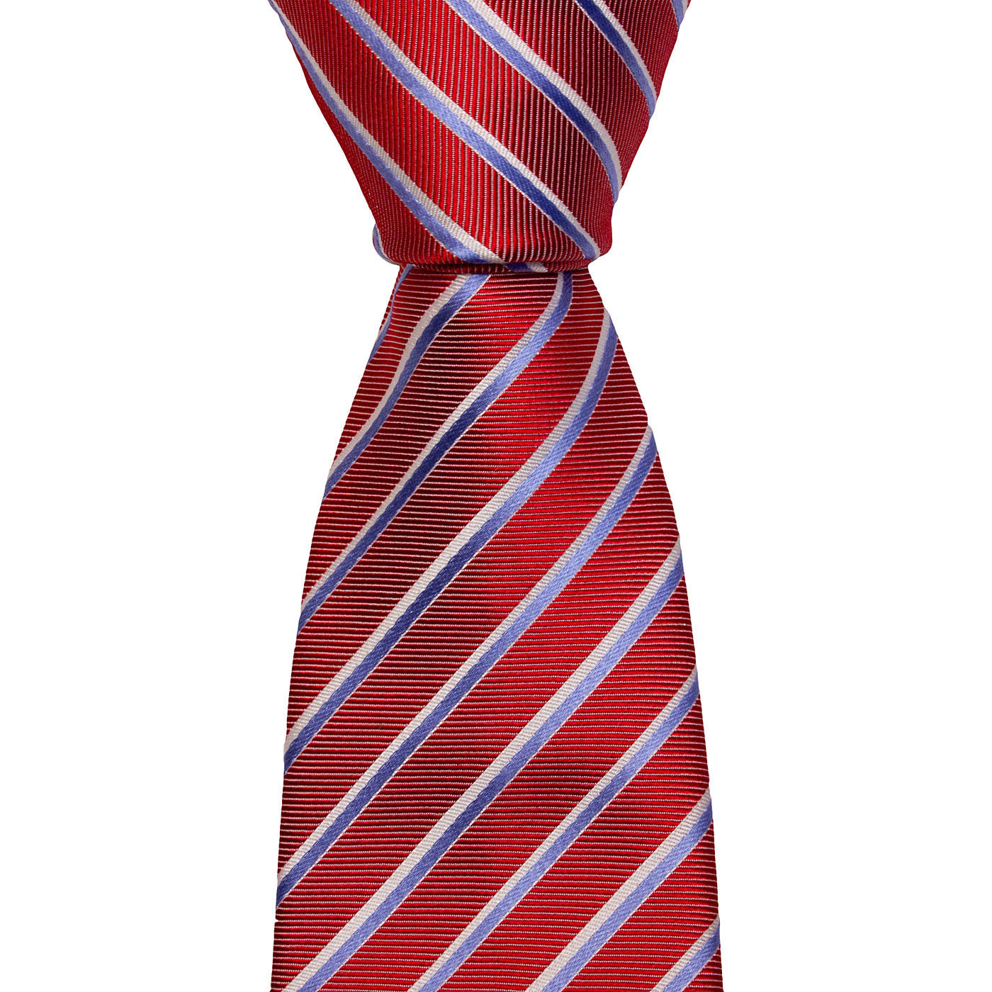 Hugo Boss Tie Hugo Boss Tie Diagonal Stripes In Red, Light Blue And