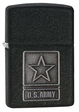 Zippo 1941 US Army Pewter Emblem black crackle Windproof Lighter - TieThis Neckwear and Accessories and TieThis.com