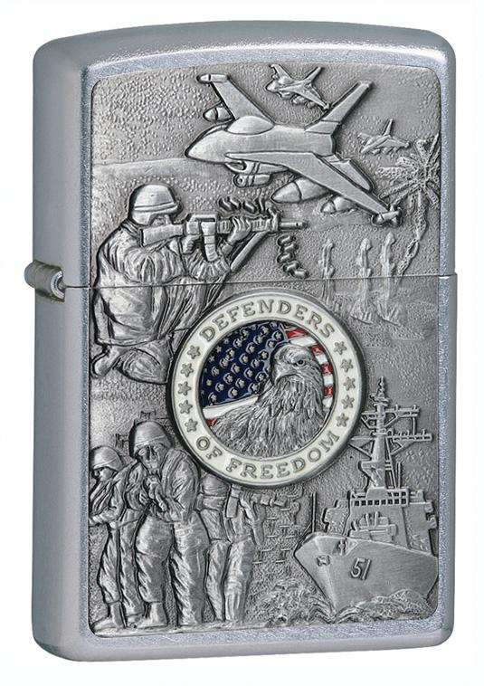 Zippo Joined Forces Emblem Street Chrome Lighter - TieThis Neckwear and Accessories and TieThis.com