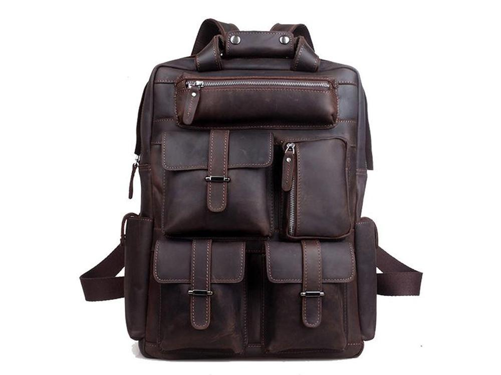 Men - Bags - Backpacks - Geronimo Leather Backpack