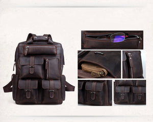 Geronimo Leather Backpack - TieThis® Neckwear and Accessories