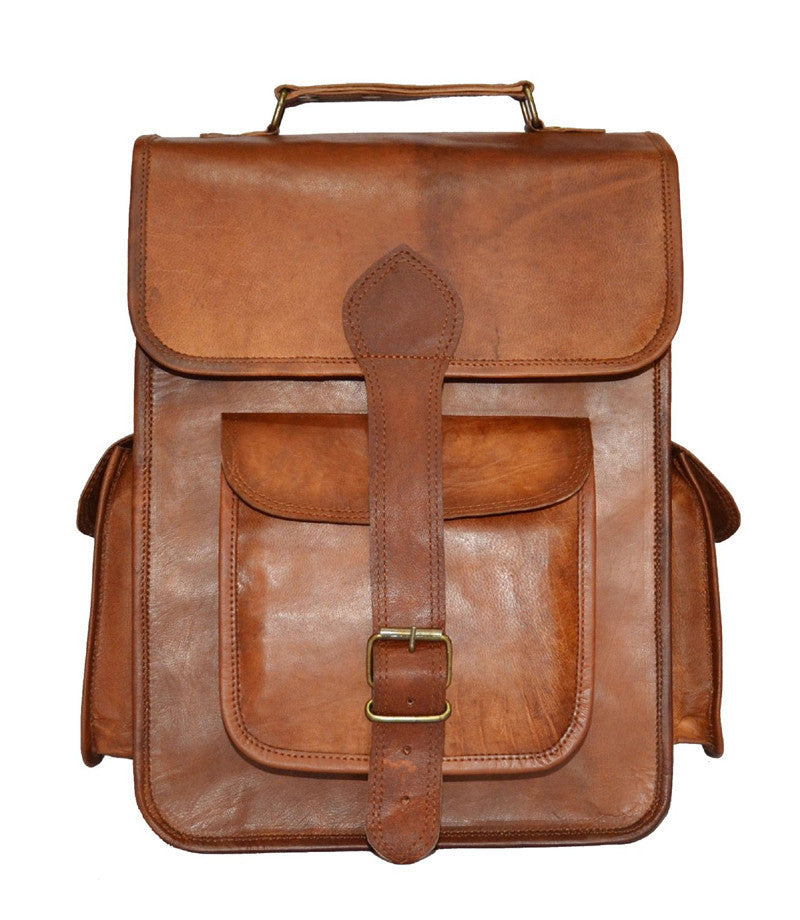 Men - Bags - Backpacks - Jackson Leather Backpack 14""