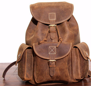 Travelers Leather Backpack - TieThis® Neckwear and Accessories