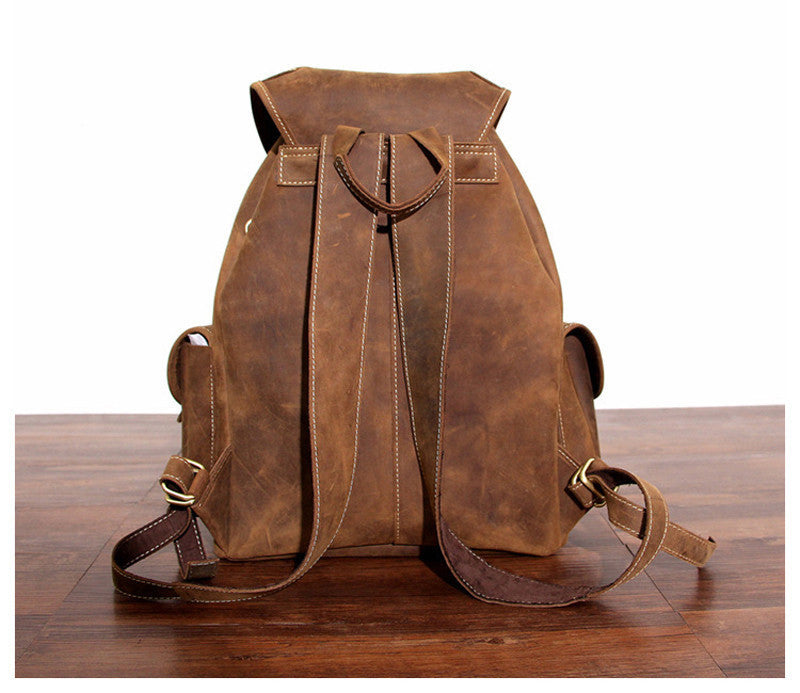Travelers Leather Backpack - TieThis Neckwear and Accessories and TieThis.com