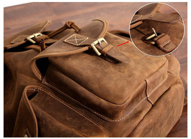 Men - Bags - Backpacks - Travelers Leather Backpack