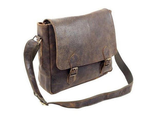 Blaine Rugged Buffalo Messenger Bag - TieThis® Neckwear and Accessories