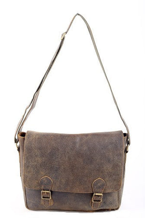 Blaine Rugged Buffalo Messenger Bag - TieThis Neckwear and Accessories and TieThis.com