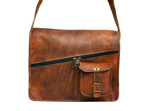 Covington Leather Messenger - TieThis® Neckwear and Accessories