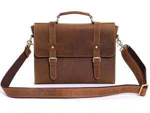 Durham Leather Messenger Bag - TieThis Neckwear and Accessories and TieThis.com