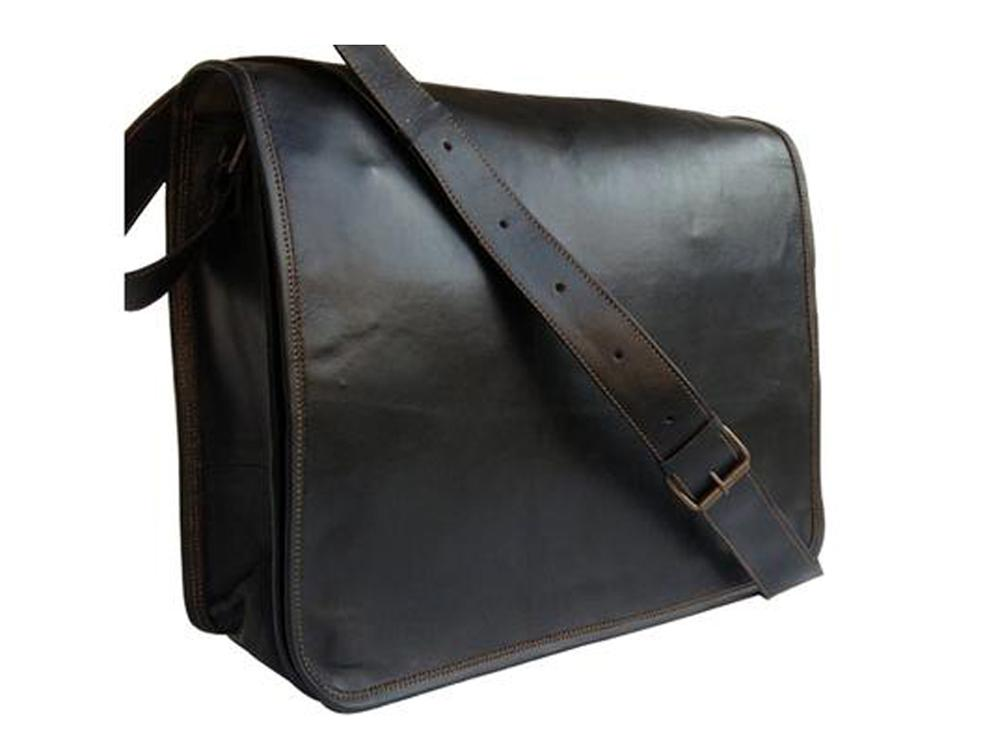 Matthews Leather Messenger Bag - TieThis Neckwear and Accessories and TieThis.com