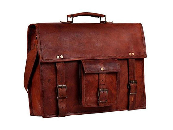 Men - Bags - Crossbody - Michael Leather Satchel 13""