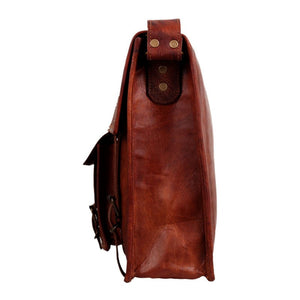 "Michael Leather Satchel 13"" - TieThis Neckwear and Accessories and TieThis.com"