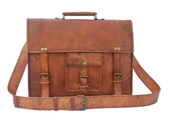 Men - Bags - Crossbody - Michael Leather Satchel 15""