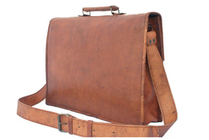 "Michael Leather Satchel 15"" - TieThis® Neckwear and Accessories"