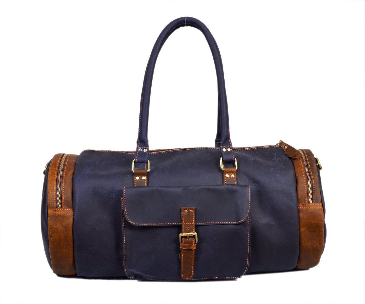 Basel Blue Duffel Bag - TieThis Neckwear and Accessories and TieThis.com