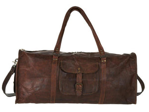 Marcus Leather Duffel Bag - TieThis® Neckwear and Accessories