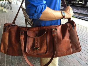 Mason Leather Duffel Bag - TieThis® Neckwear and Accessories