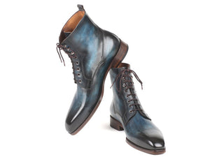 Paul Parkman Blue & Brown Leather Boots - TieThis Neckwear and Accessories and TieThis.com