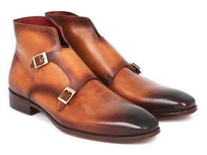 Paul Parkman Double Monkstrap Boots Brown - TieThis® Neckwear and Accessories